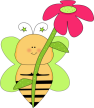 green-star-bee-pink-flower
