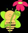 green-star-bee-pink-flower